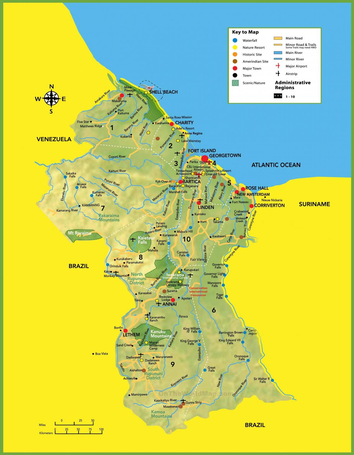 map of picture of Guyana
