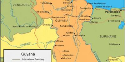 Map of Guyana showing the four natural regions - Map of Guyana ...  Natural Regions Of Guyana Showing The Map on guyana map with regions, map showing capital of brazil, 4 major natural regions, map showing the great basin, map of the guyana showing administrative regions,